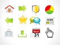 Conjunto abstracto del icono del Web Imágenes de archivo libres de regalías