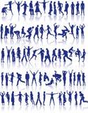 Conjunto activo del icono de la gente ilustración del vector