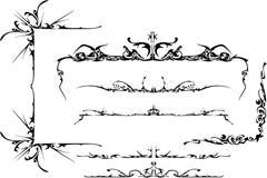 Conjunto adornado tribal Ilustración del Vector