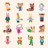 Conjunto animal del icono Imagen de archivo libre de regalías