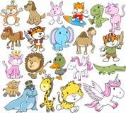 Conjunto animal lindo del vector Fotografía de archivo libre de regalías