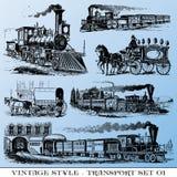 Conjunto antiguo del transporte Foto de archivo libre de regalías