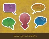 Conjunto antiguo retro de las burbujas de papel del discurso Imágenes de archivo libres de regalías