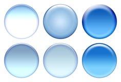 Conjunto azul del icono Imagen de archivo