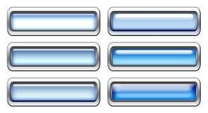 Conjunto azul del icono Imagenes de archivo
