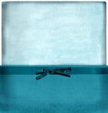 Conjunto azul del sobre de la vendimia Fotos de archivo libres de regalías