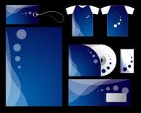 Conjunto azul del vector de la compañía Fotografía de archivo