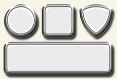 Conjunto blanco del icono Foto de archivo libre de regalías