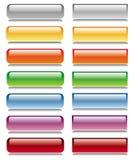 Conjunto brillante del botón stock de ilustración