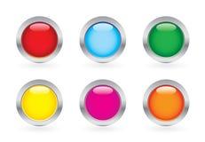 Conjunto brillante del botón Imagen de archivo