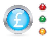 Conjunto brillante del botón del dinero Foto de archivo libre de regalías