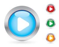 Conjunto brillante del botón del juego Imagen de archivo