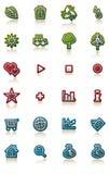 Conjunto brillante del icono ilustración del vector
