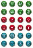 Conjunto brillante del icono del Web ilustración del vector