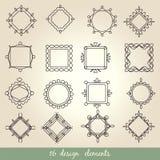 Conjunto caligráfico de la vendimia de los elementos Ornamento del marco del vector Imagen de archivo libre de regalías