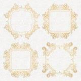 Conjunto caligráfico de la vendimia de los elementos Ornamento del marco del vector Imagen de archivo