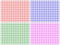 Conjunto Checkered del modelo ilustración del vector