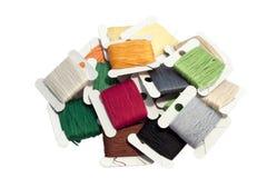 Conjunto coloreado de la cuerda de rosca Fotos de archivo