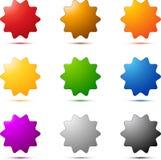 Conjunto coloreado de la estrella stock de ilustración