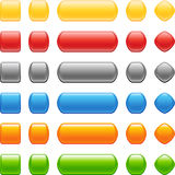 Conjunto coloreado del botón del estilo ilustración del vector