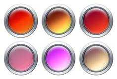 Conjunto coloreado del icono Fotos de archivo libres de regalías
