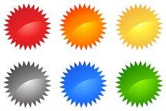 Conjunto coloreado del Web 2.0 stock de ilustración