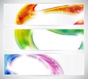 Conjunto colorido abstracto de la cabecera del vecter Fotografía de archivo