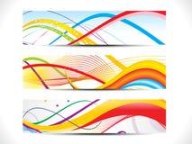 Conjunto colorido abstracto de la cabecera del Web ilustración del vector