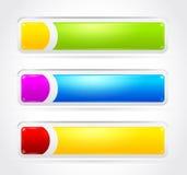 Conjunto colorido de la bandera Imágenes de archivo libres de regalías
