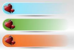 Conjunto colorido de la cabecera Fotos de archivo