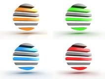 Conjunto colorido de la insignia redonda abstracta Fotografía de archivo libre de regalías