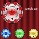 Conjunto colorido de la nave del póker Imagen de archivo libre de regalías