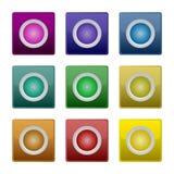 Conjunto colorido del botón Fotos de archivo