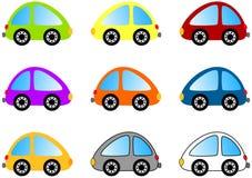 Conjunto colorido del coche de la historieta Imágenes de archivo libres de regalías
