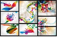 Conjunto colorido del diseño de la disposición Imágenes de archivo libres de regalías