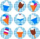 Conjunto colorido del helado Imagen de archivo libre de regalías