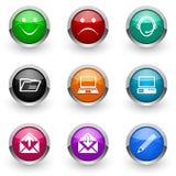 Conjunto colorido del icono Imagen de archivo libre de regalías