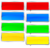 Conjunto colorido del marco Fotografía de archivo