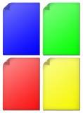 Conjunto colorido del papel aislado Foto de archivo libre de regalías