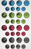 Conjunto colorido del temporizador. Elementos del Web. ilustración del vector