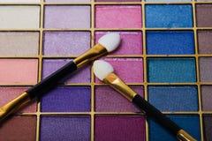 Conjunto compacto del maquillaje Fotos de archivo libres de regalías