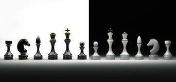 Conjunto completo de ajedrez Foto de archivo libre de regalías