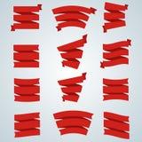 Conjunto completo de bandeiras e de fitas Foto de Stock Royalty Free