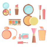Conjunto cosmético del icono Foto de archivo libre de regalías