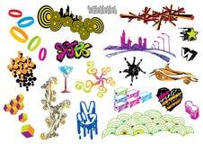 Conjunto creativo #15 Stock de ilustración