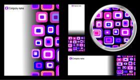 Conjunto creativo del botón de la tarjeta del modelo Fotografía de archivo