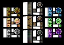 Conjunto creativo del botón de la tarjeta del modelo Foto de archivo
