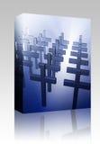 Conjunto cristiano del rectángulo de muchas cruces Fotografía de archivo libre de regalías