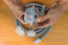 Conjunto da máscara de CPAP imagens de stock royalty free