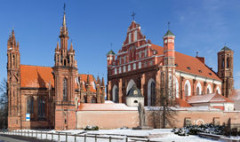 Conjunto das igrejas de St Anne e de Bernardines Imagem de Stock